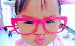 twitter pink glasses baby