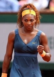 Serena Williams at French Open in Paris. Photo from Rolling Stone Culture (Julian Finney / Getty Images)