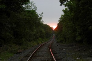 Sunset on tracks by Scott Pehrson