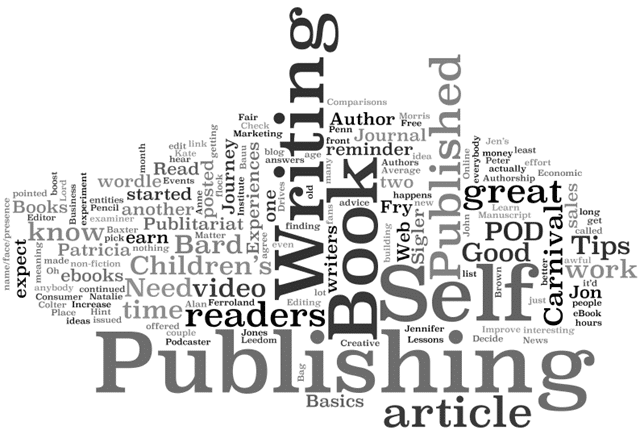 self publishing word cloud - paying-bills