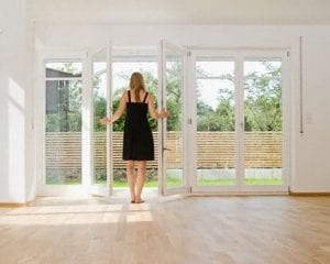 Woman Moving after Divorce