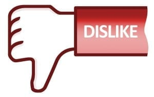 Social dislike thumb down hand outlined symbol Icons | Free Download
