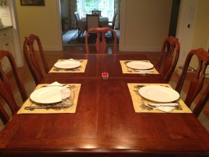 Get Organized and Get Dinner Done dinner-table