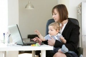 working-mom-juggling-baby-and-work-300x200