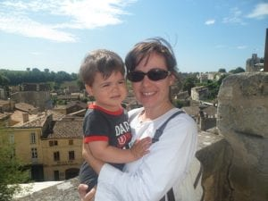 Natalia and Son in Southern France