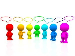 Reputation Management: Should You Accept Comments on Your Blog? 3D colourful people talking