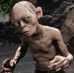 Gollum: created by Weta Digital.