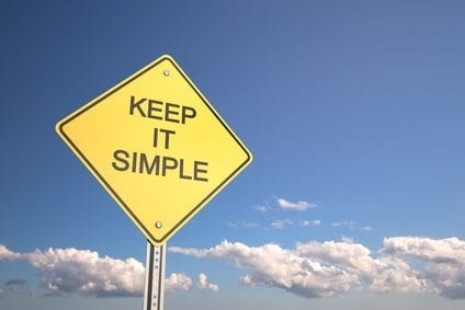 Keep Calm and Keep Your Routine Simple