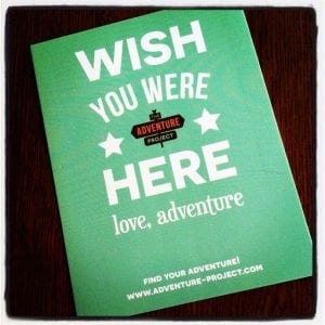 When having an adventure, don't forget to send a postcard!
