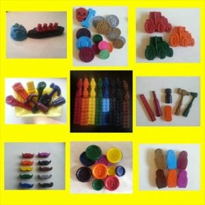 a selection of the range of Funky Crayons available