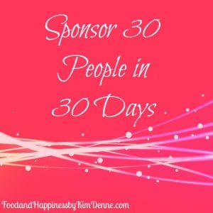 Sponsor 30 People in 30 Days
