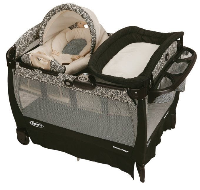 Pack n Play - Dad with wrap