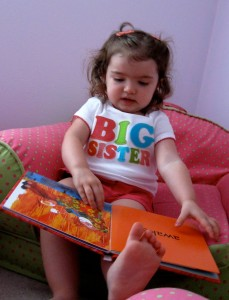 Read to children to encourage communication and speech.