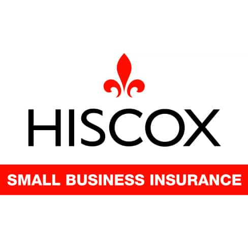 Hiscox Small SQlg Business Insurance Logo - Hiscox white logo