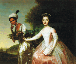 Painting of Dido Elizabeth Belle with her cousin Elizabeth depicts them at equal stations (attributed to Johan Zofanny).
