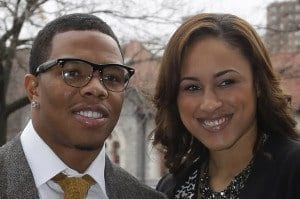 Ray Rice with wife Janay Palmer