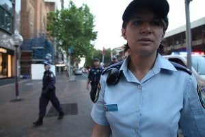 A Female Police Officer on Duty