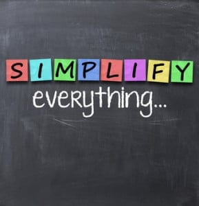 simplify your life on a chalkboard