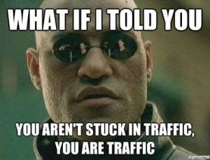 Stuck in Traffic lanes