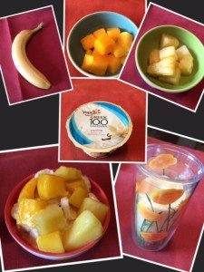 one-up your cup -yoplait mango banana pineapple smoothie