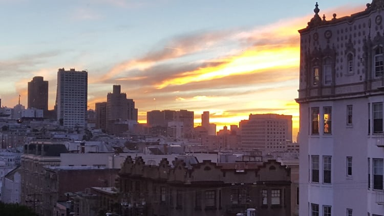 San Francisco Sunrise on the Galaxy Note5