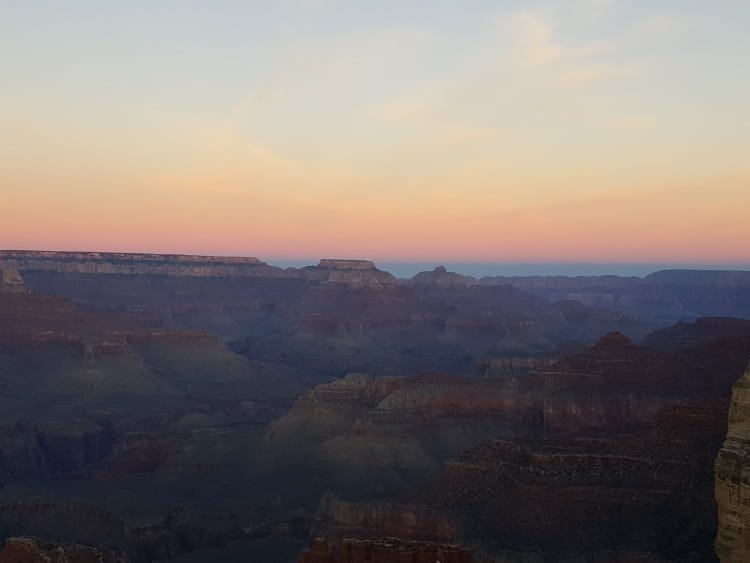 Grand Canyon at Sunset with the Galaxy Note5