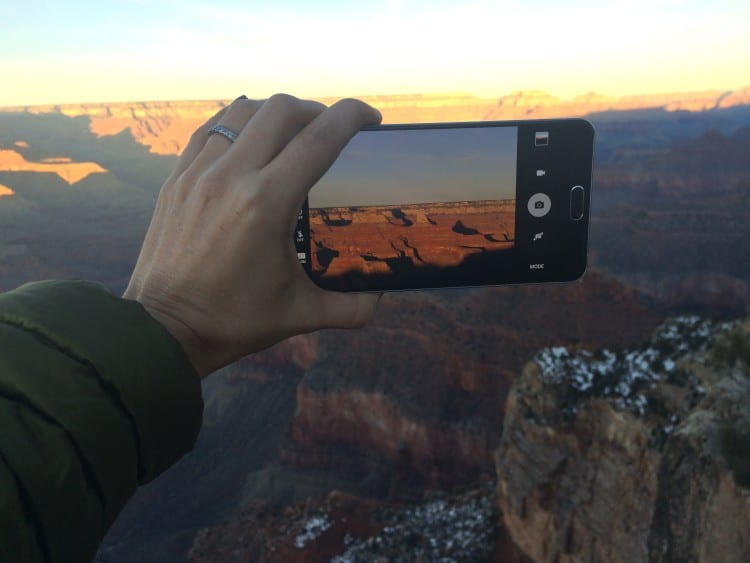 Capturing a Grand Canyon Sunset on the Galaxy Note5