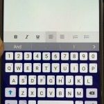 Full keyboard with numbers and symbols on a Galaxy Note 5