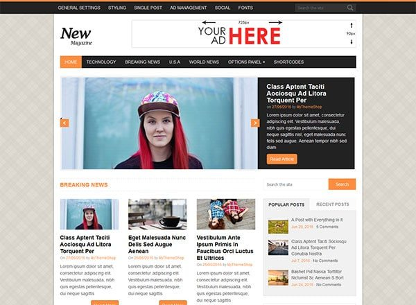 newsmag - 10 Great Themes for Your New Website