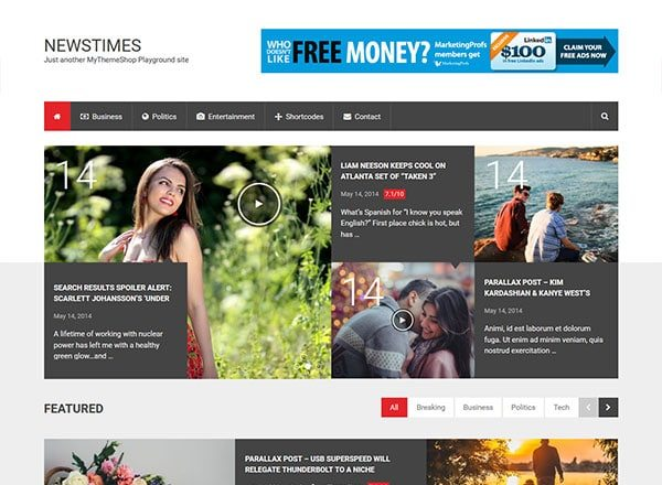 newstimes - 10 Great Themes for Your New Website